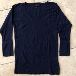 TALBOTS Pima cotton 3/4 sleeve v-neck sweater XS